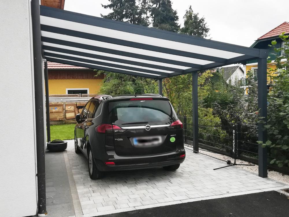 Aluminium Carport Beleuchtung