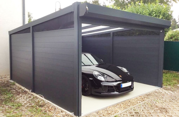 Carport freistehend Aluminium