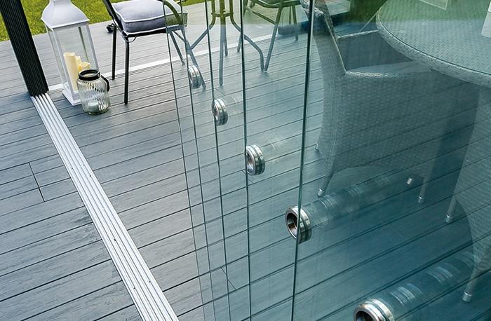 Wintergarten Glasschiebewand